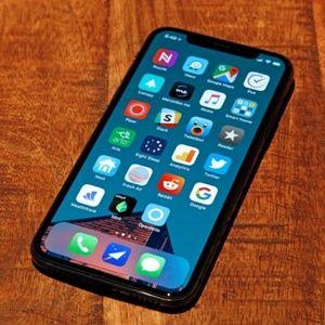Black iphonex 64GB